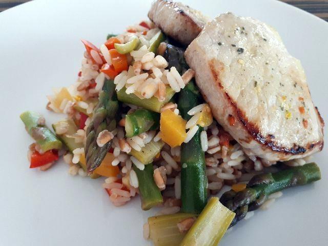 Spomladanska rižota s šparglji